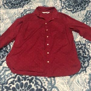 Burgundy Old Navy Button Up Shirt